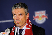 New York Red Bulls sporting director/GM Erik Soler during a New York Red Bulls press conference at Red Bull Arena in Harrison, NJ, on August 03, 2010.