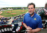 SIOUX FALLS, SD, MAY 20:  Tom Garrity Managing Partner / CEO for the Sioux Falls Canaries poses for a photo prior to the game starting against the Sioux City Explorers Friday night at the Sioux Falls Stadium. (Photo by Dave Eggen/Inertia)
