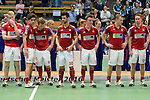 GER - Luebeck, Germany, February 07: Players of Rot-Weiss Koeln are honored as Runner Up during the Final4 during the prize giving ceremony at the Final 4 on February 7, 2016 at Hansehalle Luebeck in Luebeck, Germany. (Photo by Dirk Markgraf / www.265-images.com) *** Local caption ***