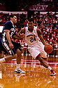 11 January 2012: Dylan Talley #24 of the Nebraska Cornhuskers drive to the lane against Matt Glover #5 of the Penn State Nittany Lions at the Devaney Sports Center in Lincoln, Nebraska. Nebraska defeated Penn State 70 to 58.