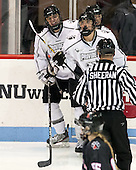 - The Northeastern University Huskies defeated the visiting Providence College Friars 8-7 on Sunday, January 20, 2013, at Matthews Arena in Boston, Massachusetts.