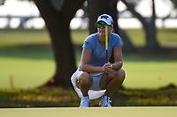 Anna Nordqvist (SWE) looks over her putt on 1 during round 1 of the 2019 US Women's Open, Charleston Country Club, Charleston, South Carolina,  USA. 5/30/2019.<br /> Picture: Golffile | Ken Murray<br /> <br /> All photo usage must carry mandatory copyright credit (© Golffile | Ken Murray)