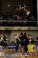 Big Air cheerleaders entertain the crowd during the International basketball match between the NZ Tall Blacks and Australian Boomers at TSB Bank Arena, Wellington, New Zealand on 25 August 2009. Photo: Dave Lintott / lintottphoto.co.nz