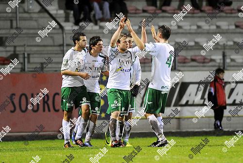 2011-12-17 / Voetbal / seizoen 2011-2012 / R. Antwerp FC - Lommel United / Lommel kwam gelijk (1-1) via Davy Brouwers..Foto: Mpics.be