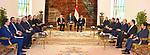 Egyptian President Abdel Fattah al-Sisi meets with President of Republic of Albania Ilir Meta, in Cairo on February 27, 2019. Photo by Egyptian President Office