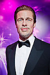 Oct. 4, 2011 - Tokyo, Japan - The wax figure of Brad Pitt is displayed at the Madame Tussauds museum exhibit. The world's 13th Madame Tussauds museum showcases 19 wax figures of  celebrity musicians and movie stars. (Photo by Christopher Jue/AFLO)