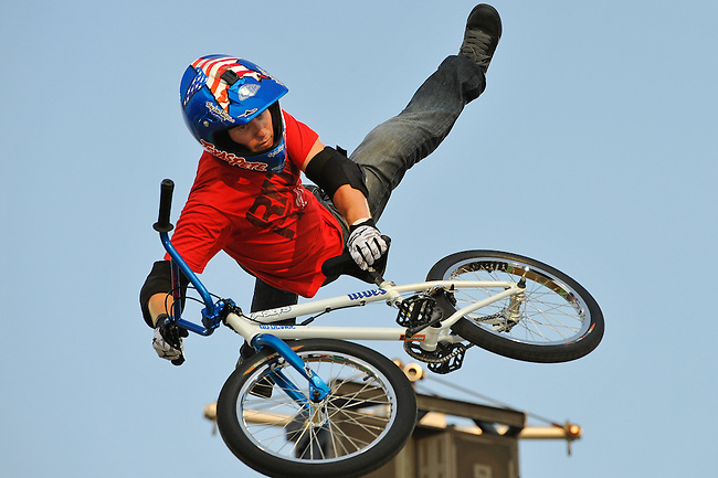 17 August, 2012:  Chad Kagy competes in the Bmx Final: Round 2 of the Pantech Beach Championships in Ocean City, MD.