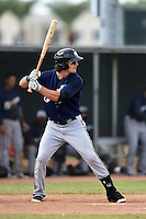 Milwaukee Brewers outfielder Clint Coulter (15) during an Instructional League game against the Los Angeles Angels of Anaheim on October 9, 2014 at Tempe Diablo Stadium Complex in Tempe, Arizona.  (Mike Janes/Four Seam Images)