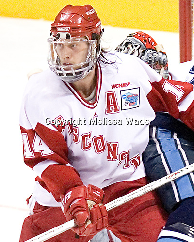 Tom Gilbert - The University of Wisconsin Badgers defeated the University of Maine Black Bears 5-2 in their 2006 Frozen Four Semi-Final meeting on Thursday, April 6, 2006, at the Bradley Center in Milwaukee, Wisconsin.  Wisconsin would go on to win the Title on April 8, 2006.