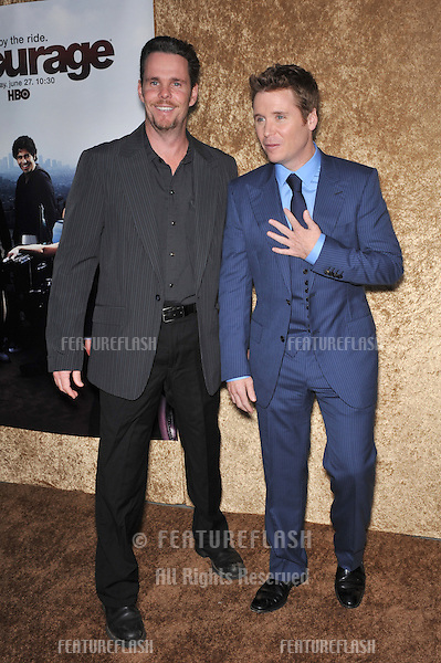 "Kevin Connolly (blue suit) & Kevin Dillon at the season seven premiere of their TV series ""Entourage"" at Paramount Studios, Hollywood..The new series begins on HBO on June 27th..June 16, 2010  Los Angeles, CA.Picture: Paul Smith / Featureflash"