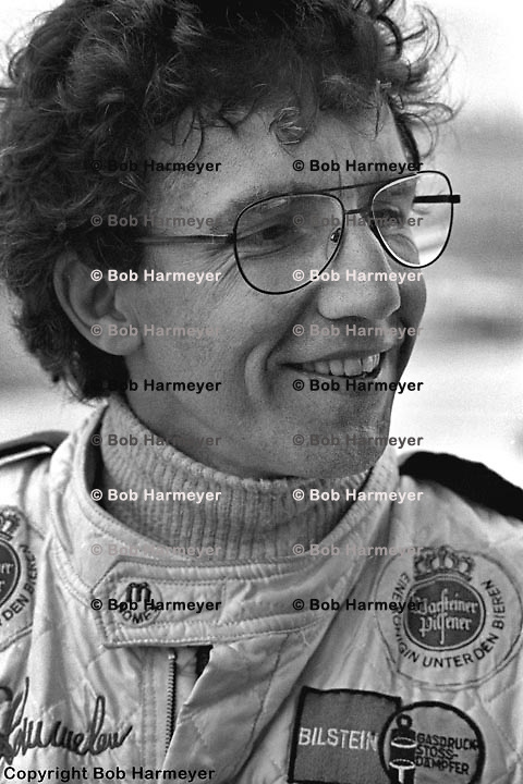 Rolf Stommelen in the pit lane before practice for the 1978 Daytona 24 Hours.