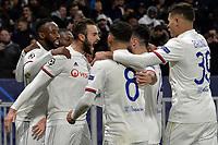 Lucas Tousart of Lyon celebrates with team mates after scoring the goal of 1-0 <br /> Lyon 26/02/2020 OL Stadium Decines <br /> Football Champions League 2019//2020 <br /> Round of 16 1st Leg <br /> Olympique Lionnais Lyon - Juventus <br /> Photo Fredric Chambert/Panoramic/Insidefoto