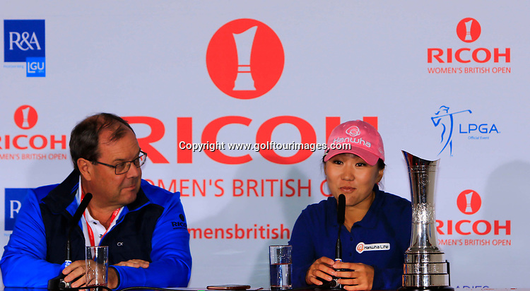 In-Kyung Kim (KOR) is the 2017 Ricoh Women's British Open Champion. The Richoh Women's British Open was played over Kingsbarns Golf Links from 3rd to 6th August 2017: Picture Stuart Adams, www.golftourimages.com: 06/08/2017