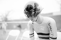 Nathan Van Hooydonck (BEL)<br /> focused just before his race<br /> <br /> U23 Men TT<br /> UCI Road World Championships / Richmond 2015
