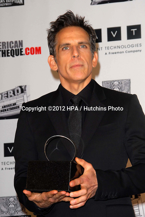 LOS ANGELES - NOV 15:  Ben Stiller in the press room of the 26th American Cinematheque Award Honoring Ben Stiller at Beverly Hilton Hotel on November 15, 2012 in Beverly Hills, CA
