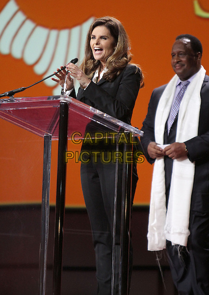 25 February 2014 - Los Angeles, California - Maria Shriver, Inglewood Mayor James Butts .  His Holiness the 14th Dalai Lama of Tibet &quot;21st Century Compassion&quot; public speaking event held at the LA Forum.<br /> CAP/ADM/RE<br /> &copy;Russ Elliot/AdMedia/Capital Pictures