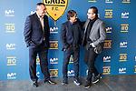 "Tv Hosts Michael Robinson, Raul Ruiz and Pedja Mijatovic during the presentation of the new tv program #0 of Movistar+ ""Caos FC"" at Ciudad del Futbol of Las Rozas in Madrid. November 21, Spain. 2016. (ALTERPHOTOS/BorjaB.Hojas)"