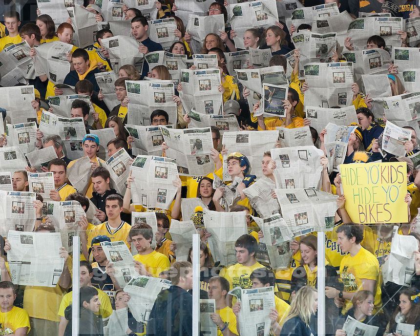 The University of Michigan ice hockey team beat Northern Michigan University, 4-1, at Yost Ice Arena in Ann Arbor, Mich., on February 17, 2012.