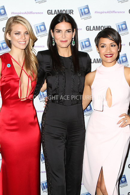 WWW.ACEPIXS.COM<br /> <br /> October 22 2015, New York City<br /> <br /> AnnaLynne McCord, Angie Harmon, Grace Gealey at the Invetigation Discovery and Glamour Inspire a Difference event at the Dream hotel Downtown on October 22 2015 in New York City<br /> <br /> By Line: Nancy Rivera/ACE Pictures<br /> <br /> <br /> ACE Pictures, Inc.<br /> tel: 646 769 0430<br /> Email: info@acepixs.com<br /> www.acepixs.com