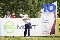 Marc Warren (SCO) on the 10th tee during Round 1 of the D+D Real Czech Masters at the Albatross Golf Resort, Prague, Czech Rep. 31/08/2017<br /> Picture: Golffile | Thos Caffrey<br /> <br /> <br /> All photo usage must carry mandatory copyright credit     (&copy; Golffile | Thos Caffrey)