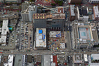 aerial photograph construction of Federal Building Civic Center San Francisco, California