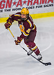 24 November 2012: University of Minnesota Golden Gopher defenseman Ben Marshall, a Sophomore from Mahtomedi, MN, in action against the University of Vermont Catamounts at Gutterson Fieldhouse in Burlington, Vermont. The Gophers defeated the Catamounts 3-1 in the second game of their 2-game non-divisional weekend series. Mandatory Credit: Ed Wolfstein Photo