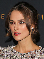 LOS ANGELES, CA, USA - NOVEMBER 10: Keira Knightley arrives at the Los Angeles Screening Of The Weinstein Company's 'The Imitation Game' held at the Directors Guild of America Theatre on November 10, 2014 in Los Angeles, California, United States. (Photo by Celebrity Monitor)