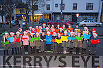 Gaelscoil Aogáin choir at the Castleisland Christmas lights Event on Friday