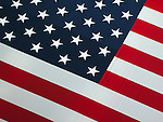 Close up of American flag.