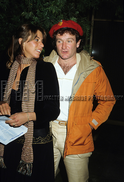 Robin Williams and wife Valerie Velardi pictured in New York City in 1981.
