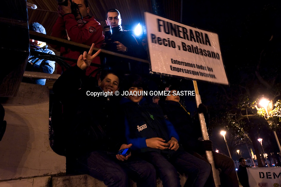 9 FEBRERO 2012 SANTANDER .Manifestacion de los trabajadores  de TEKA  .foto ©JOAQUIN GOMEZ SASTRE