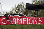 © Joel Goodman - 07973 332324 . 25/04/2015 . Salford , UK . Fans . Evostick League champions , Salford FC , play Osset Town , in Salford . Photo credit : Joel Goodman