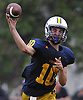 Kenny Galvin #10, Massapequa quarterback, throws a pass during a Nassau County Conference I varsity football game against Farmingdale at Massapequa High School on Saturday, Oct. 8, 2016. Farmingdale won by a score of 45-42.