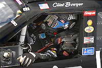Apr 27, 2007; Talladega, AL, USA; Nascar Nextel Cup Series driver Clint Bowyer (07) during practice for the Aarons 499 at Talladega Superspeedway. Mandatory Credit: Mark J. Rebilas
