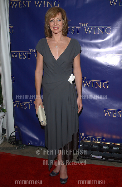 Actress ALISON JANNEY at party in Los Angeles to celebrate to 100th episode of TV series The West Wing..November 1, 2003.