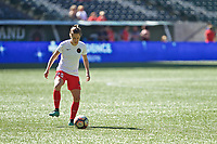 Portland, OR - Saturday August 05, 2017: Meghan Klingenberg during warmups before a regular season National Women's Soccer League (NWSL) match between the Portland Thorns FC and the Houston Dash at Providence Park.