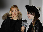 Kelly Rutherford (Generations, Loving, Melrose Place, Gossip Girl) - poses with designer Gabrielle Arruda at her runway show presented by RUSK during the fall/winter 2014 Nolcha Fashion Week - spotlighting independent designers on February 12, 2014 at Pier 59, New York City, New York.  (Photo by Sue Coflin/Max Photos)