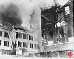The Middlebury Congregational Church and Town Hall fire 8 April 1935