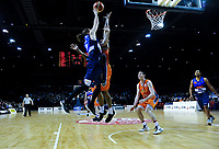 Damon Heuir (Giants) in action during the national basketball league semifinal match between Nelson Giants and Southland Sharks at TSB Bank Arena in Wellington, New Zealand on Saturday, 4 August 2018. Photo: Dave Lintott / lintottphoto.co.nz
