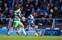 Myles Weston of Wycombe Wanderers heads forward during the Sky Bet League 2 match between Wycombe Wanderers and Yeovil Town at Adams Park, High Wycombe, England on 14 January 2017. Photo by Andy Rowland / PRiME Media Images.
