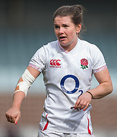 England Women's Leanne Riley<br /> <br /> Photographer Bob Bradford/CameraSport<br /> <br /> 2020 Women's Six Nations Championship - England v Wales - Saturday 7th March 2020 - The Stoop - London<br /> <br /> World Copyright © 2020 CameraSport. All rights reserved. 43 Linden Ave. Countesthorpe. Leicester. England. LE8 5PG - Tel: +44 (0) 116 277 4147 - admin@camerasport.com - www.camerasport.com