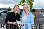 Angie Smith from St John of Gods presenting a cheque of €250 to  Jeanette Quirke from Novas (The Homeless organisation in Tralee) in Tralee on Tuesday..