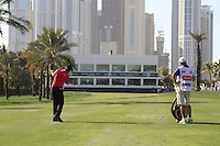 Rory McIlroy (NIR) plays his 2nd shot on the 16th hole during Sunday's Final Round of the 2012 Omega Dubai Desert Classic at Emirates Golf Club Majlis Course, Dubai, United Arab Emirates, 12th February 2012(Photo Eoin Clarke/www.golffile.ie)