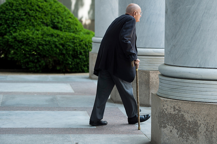 UNITED STATES - MAY 15: Rep. John Dingell, D-Mich., walks out of the Rayburn House Office Building on Wednesday, May 15, 2013. (Photo By Bill Clark/CQ Roll Call)