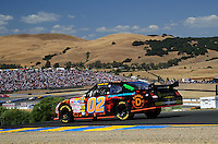 Jun. 21, 2009; Sonoma, CA, USA; NASCAR Sprint Cup Series driver Brandon Ash during the SaveMart 350 at Infineon Raceway. Mandatory Credit: Mark J. Rebilas-