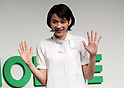 "March 14, 2017, Tokyo, Japan - Japanese actress ""Non"" smiles as she appears at Japan's LINE MOBILE new service presentation in Tokyo on Monday, March 14, 2017. Japanese SNS giant LINE's MVNO service LINE MOBILE will use Japanese actress ""Non"" as the new mascot for the company's new TV commercial.    (Photo by Yoshio Tsunoda/AFLO) LwX -ytd-"