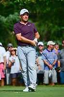 Francesco Molinari (ITA) watches his tee shot on 11 during Saturday's round 3 of the PGA Championship at the Quail Hollow Club in Charlotte, North Carolina. 8/12/2017.<br /> Picture: Golffile | Ken Murray<br /> <br /> <br /> All photo usage must carry mandatory copyright credit (&copy; Golffile | Ken Murray)