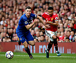 Michael Keane of Everton and Jesse Lingard of Manchester United during the premier league match at the Old Trafford Stadium, Manchester. Picture date 17th September 2017. Picture credit should read: Simon Bellis/Sportimage