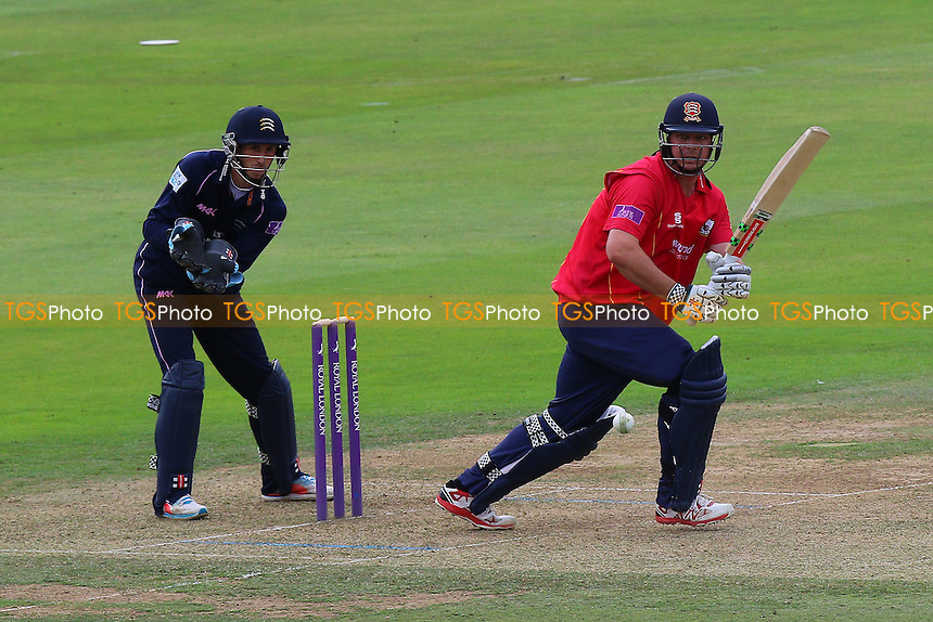 Jesse Ryder in batting action for Essex as John Simpson looks on from behind the stumps during Middlesex vs Essex Eagles, Royal London One-Day Cup Cricket at Lord's Cricket Ground on 31st July 2016