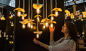 London, UK. 22 September 2016. LED lamps designed by Mullan from Ireland. The UK's largest design show 100% Design takes place at London Olympia from 21 to 24 September 2016. © Bettina Strenske/Alamy Live News